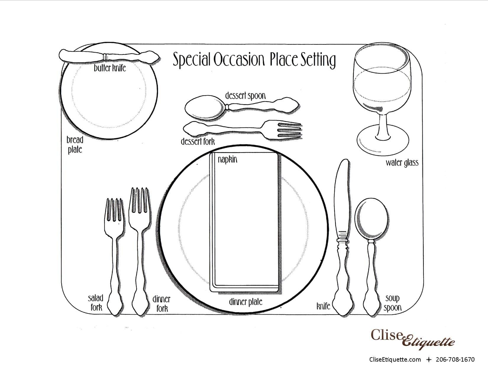 Special occasion place setting with AC logo
