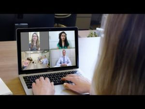 Zoom video conferencing meeting